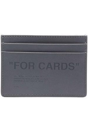 OFF-WHITE Slogan-embossed slim cardholder