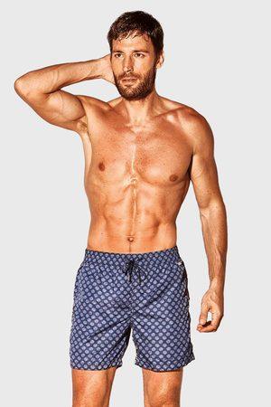 David 52 Modrobílé koupací šortky Caicco
