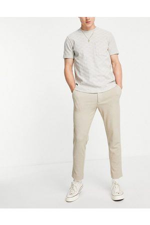 New Look Co-ord trousers in oatmeal-Neutral