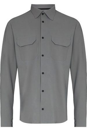 GR10K Muži S dlouhým rukávem - Double-pocket long-sleeve shirt