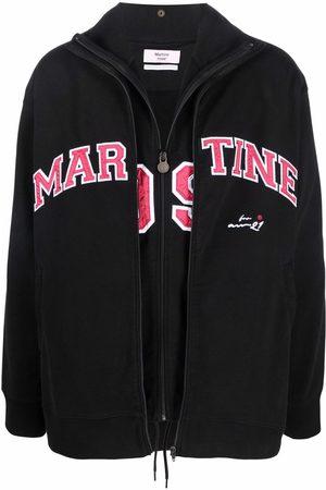 Martine Rose Muži Bundy - Logo print layered track jacket