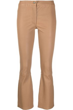 Arma Flared leather trousers