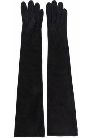 Manokhi Ženy Rukavice - Long-length suede gloves