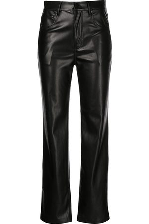ALICE+OLIVIA Faux leather straight leg trousers