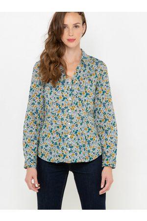 Camaïeu Šedá květovaná košile