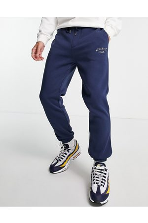 JACK & JONES Originals loose fit joggers with small logo in navy