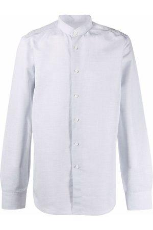 DELL'OGLIO Muži S dlouhým rukávem - Long-sleeve collarless shirt