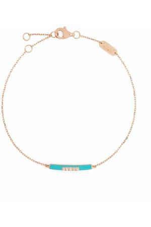 Djula 14kt rose gold enamel diamond bracelet