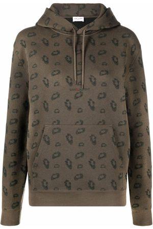 Saint Laurent Logo-print long-sleeve hoodie
