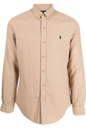 Polo Ralph Lauren Muži S dlouhým rukávem - Cotton long-sleeve shirt