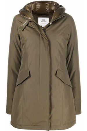 Woolrich Ženy Parky - Hooded cotton-blend parka coat