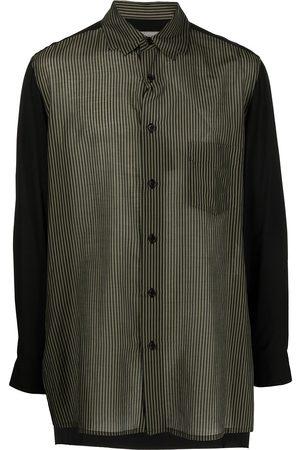 YOHJI YAMAMOTO Stripe-panelled oversized shirt