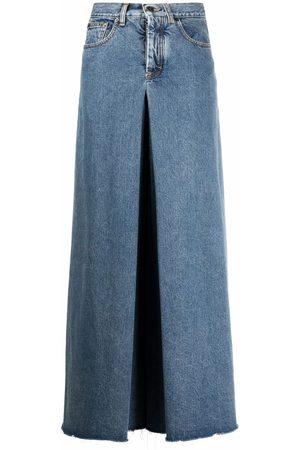 Maison Margiela Ženy Široké nohavice - Four-stitch wide-leg jeans