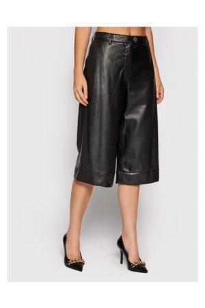 Trussardi Kalhoty z imitace kůže