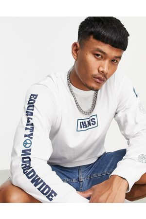Vans Muži S dlouhým rukávem - Take a Stand long sleeve t-shirt in white
