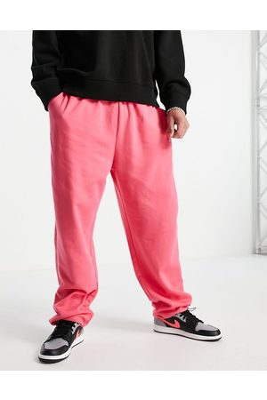 ASOS Muži Tepláky - Co-ord super oversized joggers with toggle hem in pink