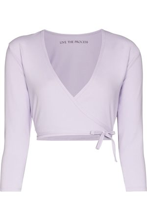 Live The Process Tied wrap blouse