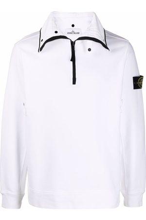 Stone Island Logo-patch long-sleeve jumper