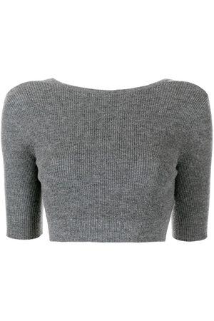 Cashmere In Love Liza open-back crop top