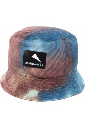 Mauna Kea Tie dye-print logo-patch bucket hat