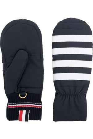 Thom Browne 4-Bar stripe mittens