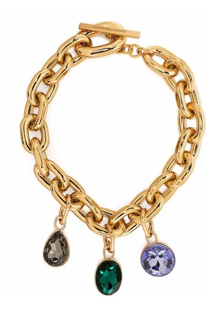 Paco rabanne Gemstone-embellished cable-link necklace