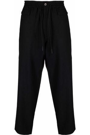 Y-3 Muži Rovné nohavice - Straight-leg wool-blend trousers