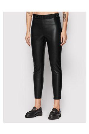 DKNY Ženy Kožené kalhoty - Kalhoty z imitace kůže