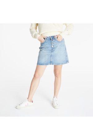 Calvin Klein Jeans Hr Mini Skirt Denim Light