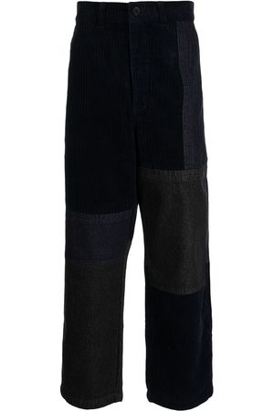 FIVE CM Corduroy panelled straight trousers