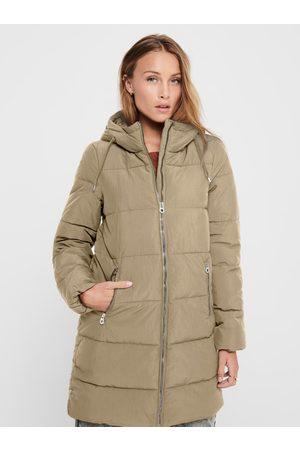 ONLY Béžový zimní prošívaný kabát Dolly