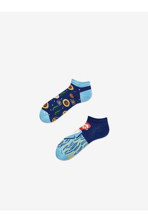 Many Mornings Modré unisex vzorované kotníkové ponožky True Vincent