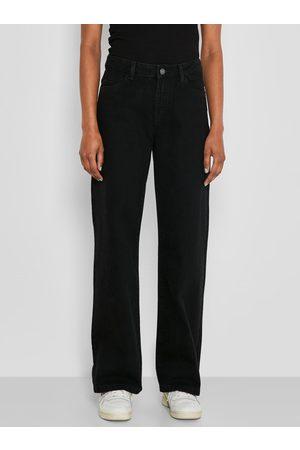 Noisy May Černé široké džíny Amanda