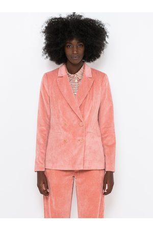 Camaïeu Růžové manšestrové sako