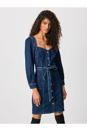 Pepe Jeans Ženy Džínové šaty - Dámské džínové šaty Jenna