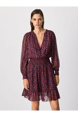Pepe Jeans Ženy Šaty - Dámské květované šaty Carine