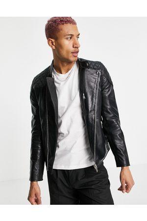 Bolongaro Trevor Quilted leather biker jacket-Black