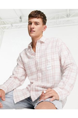 Topman Relaxed stripe shirt in pink
