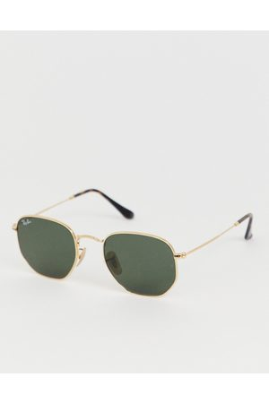 Ray-Ban 0RB3548N hexagonal sunglasses-Gold