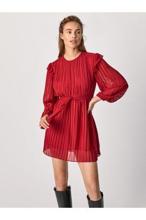 Pepe Jeans Ženy Šaty - Dámské červené šaty Coline