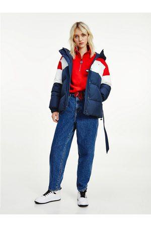 Tommy Jeans Ženy Bundy - Dámská zimní bunda COLORBLOCK