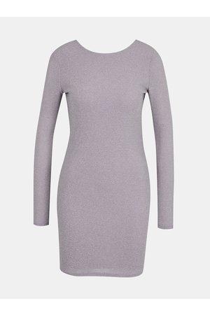 Tally Weijl Světle fialové pouzdrové šaty s odhalenými zády