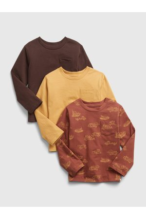 GAP Klučičí trička s dlouhým rukávem, 3ks