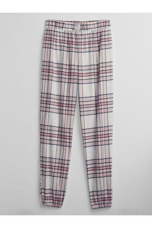 GAP Smetanové dámské pyžamové kalhoty flannel joggers
