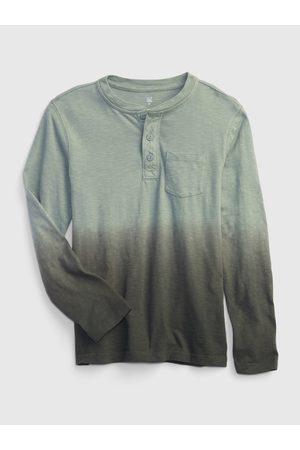 GAP Chlapci S dlouhým rukávem - Zelené klučičí tričko s dlouhým rukávem