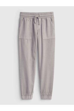 GAP Šedé holčičí kalhoty woven jogger