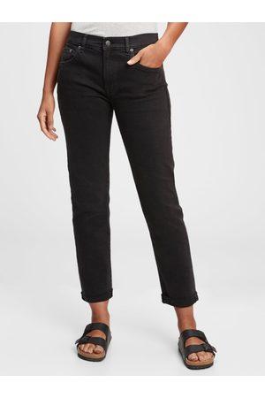 GAP Černé dámské džíny mid rise girlfriend jeans