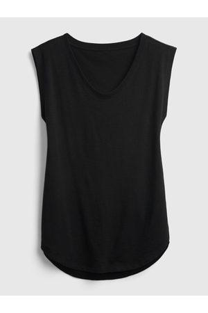 GAP Černé dámské tričko uscle tunic