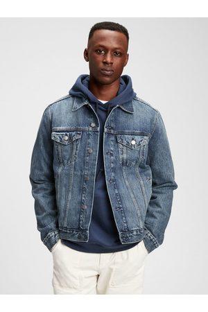 GAP Pánská džínová bunda icon denim jacket with Washwell