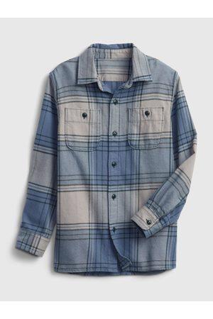 GAP Klučičí košile flanelová kostka